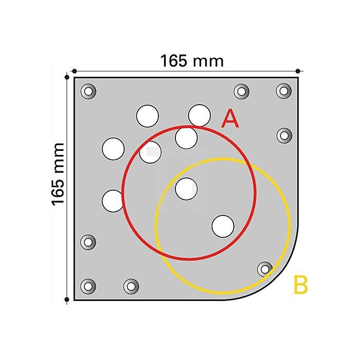 Tischbein D.102mm H.710mm Matt weiss RAL 9003 mit Montageplatte