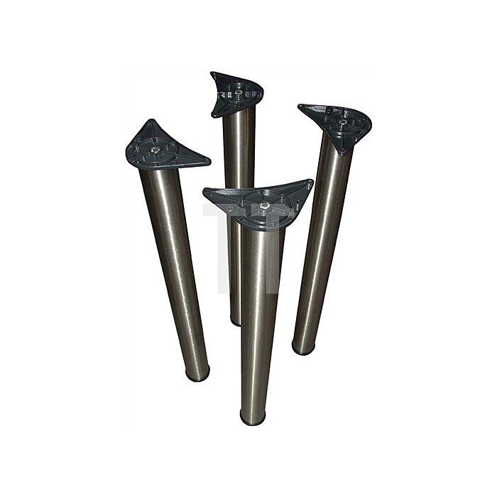 Tischbein-Set D. 80mm Höhe 710mm Chrom poliert 4 Stück im Karton