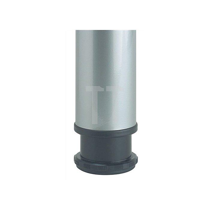 Tischbein-Set Höhe 870mm Stahl-Rundrohr 60mm weiss RAL 9016 stufenlos verstellbar