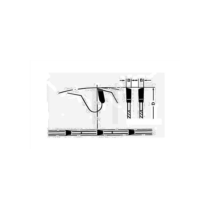 Tischkreissägeblatt D.250mm Bohrung 30mm 60Z.negativ HM Schnitt-B.3,2mm Ku.-Wech