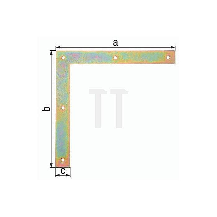 Tor-Winkel 300x300x40mm Stahl roh galv. gelb verz. GAH