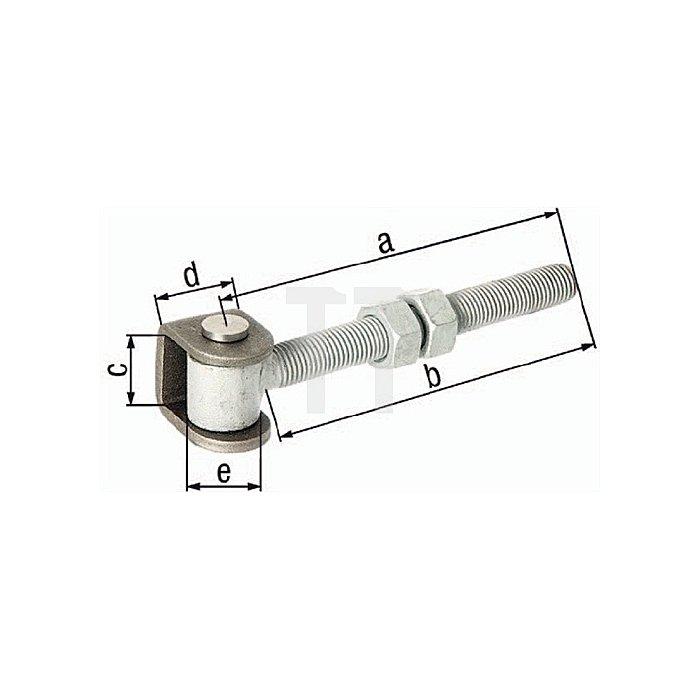 Torband 180x170x44x35xØ20mm U-Bügel Stahl roh