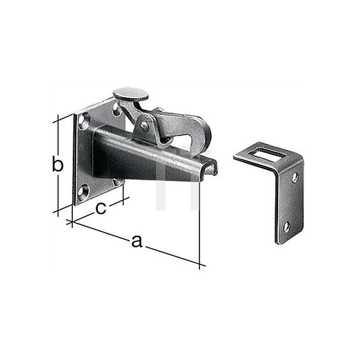 Torfeststeller 100x65x50mm Stahl roh feuerZN z. Anschrauben GAH