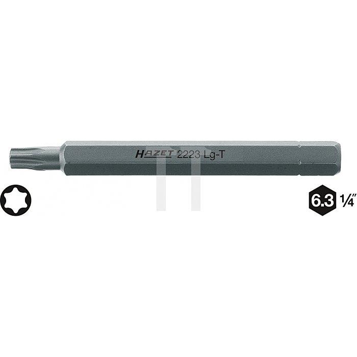 Hazet TORX® Schraubendreher-Einsatz (Bit) T20 Innen-Sechskant 6,3mm (1/4 Zoll) Innen TORX® l: 38mm 2223LG-T20