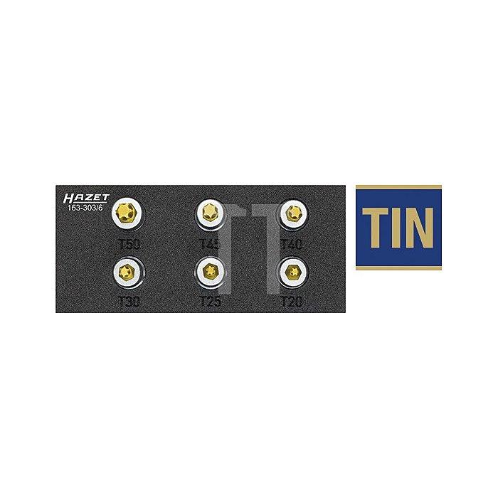 Hazet TORX® Schraubendreher-Steckschlüsseleinsatz-Satz 6-tlg. 163-303/6