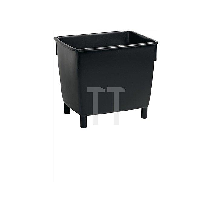 Transportbehälter schwarz 400l L945xB725xH830mm m.Ablaufloch/Stopfen
