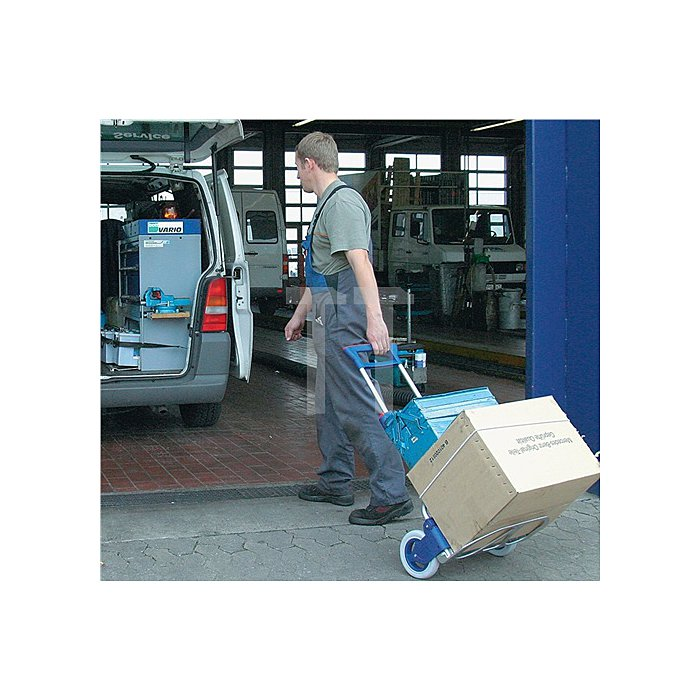 Transportkarre klappbar Trgf.125kg H.1030mm Rad-D.200mm Polymerräder