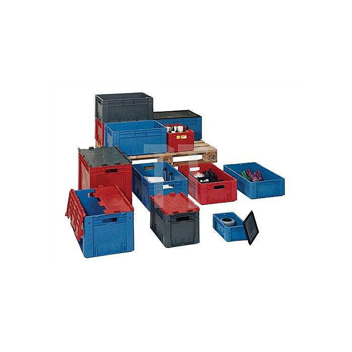 Transportkasten PP rot Schwerlast 600x400x320mm LAKAPE hochbelastbar