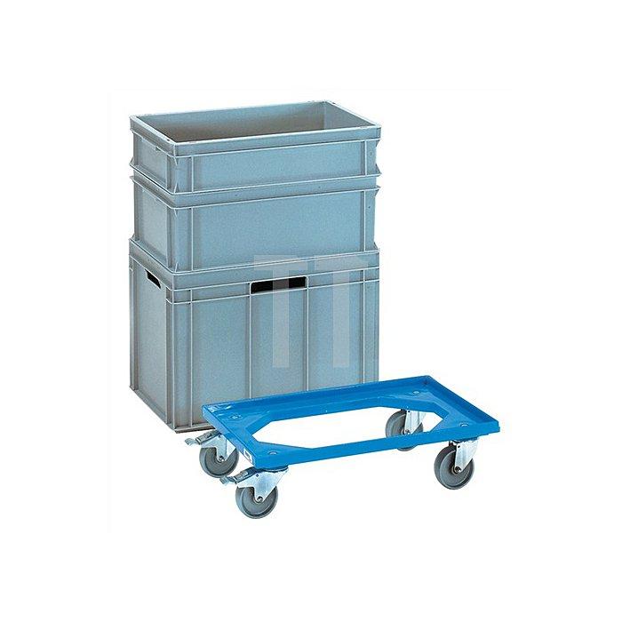 Transportroller L610x410mm offener ABS-Kunststoffrahmen blau Trgf. 250 kg