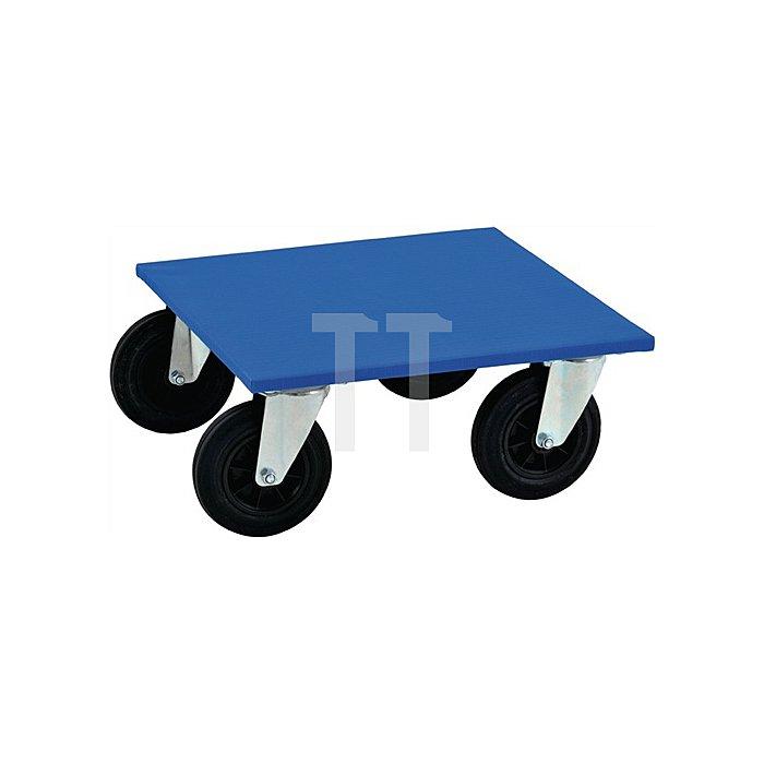 Transportroller max.750kg L.600xB.600mm Vollgummirad