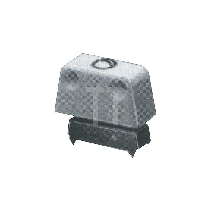 Trapezverbinder TZ 4 / 013104 Unterteil mit Zacken Kunststoff/Stahl weiss