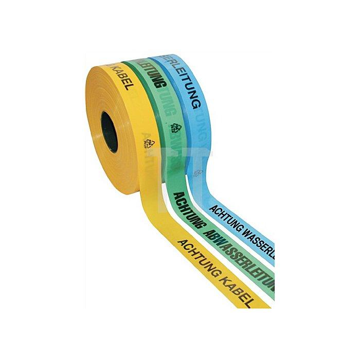 Trassenwarnband Rollenbreite 40mm Aufdruck Achtung Gasleitung Rollenlänge 250m