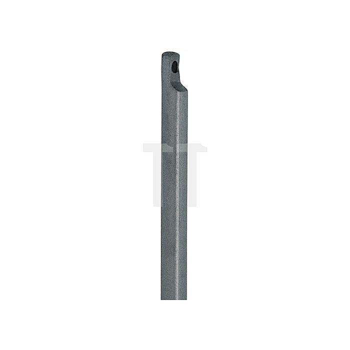 Treibriegelstange 10x2500mm mit Aussparung Stahl gelb chrom.