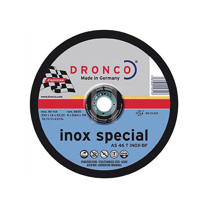 Trennscheibe AS46INOX 230x1,9x22,23mm gekröpft