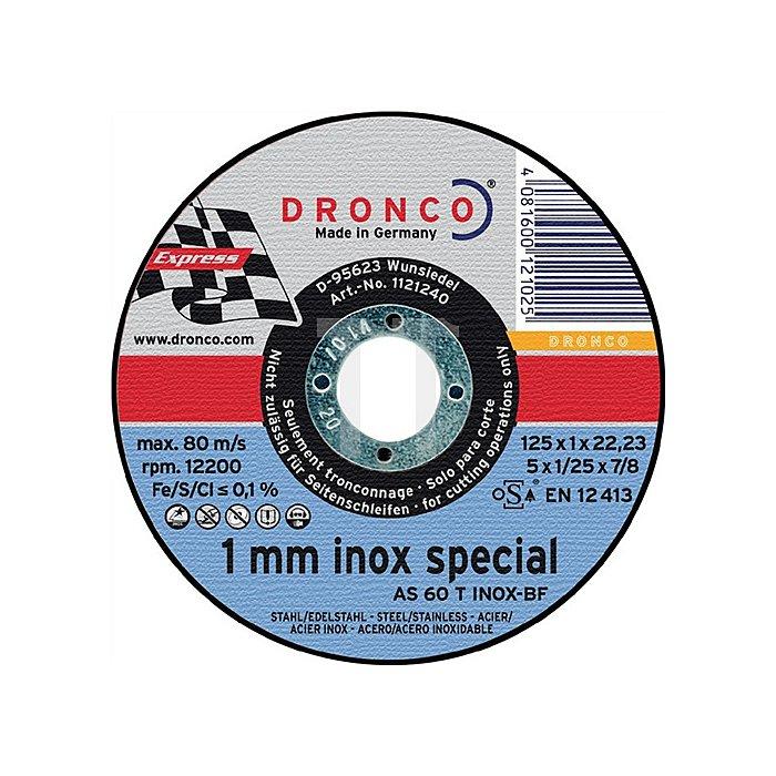 Trennscheibe AS60TINOX 125x1,0x22,23mm gerade
