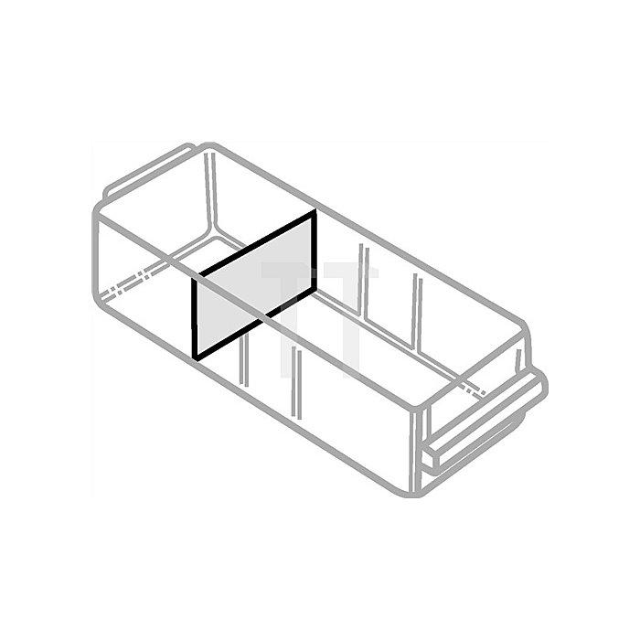 Trennwandsortiment 12tlg. B.155xH.80mm f.Schubl. Typ F klar