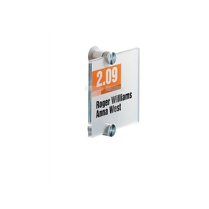 Tür-/Infoschild B.105xH.105mm a.Acrylglas 2Einlegefolien