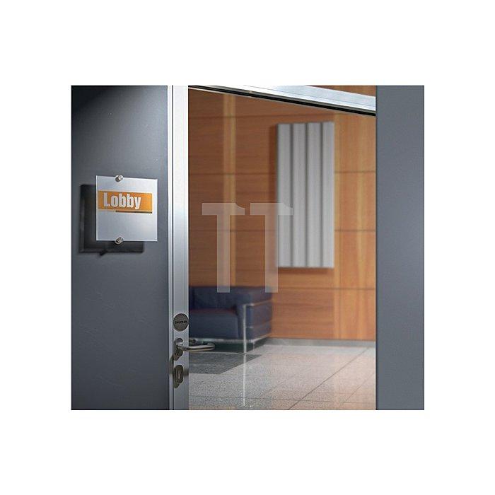Tür-/Infoschild B.148xH.105mm a.Acrylglas 2Einlegefolien