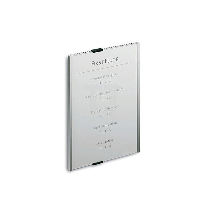 Tür-/Infoschild B.210xH.297mm Rückenteil Alu. Abdeckung Acryl