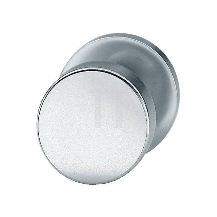 Tür-Knopf 0829 Knopf fest auf Rosette Aufnahme M12 Aluminium F1 naturfarbig