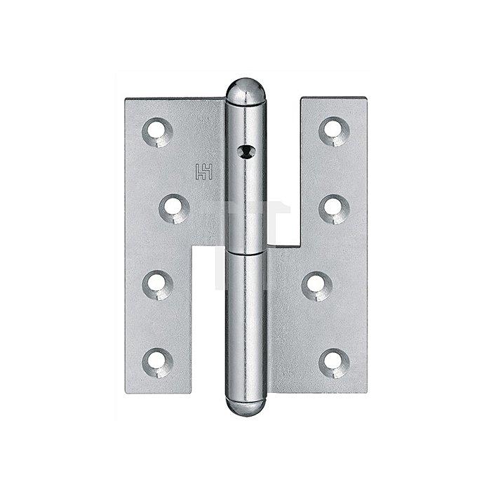 Türband Q1 DIN li.Band-L.140mm Oberfläche verz.f.stumpf einschlagende Türen