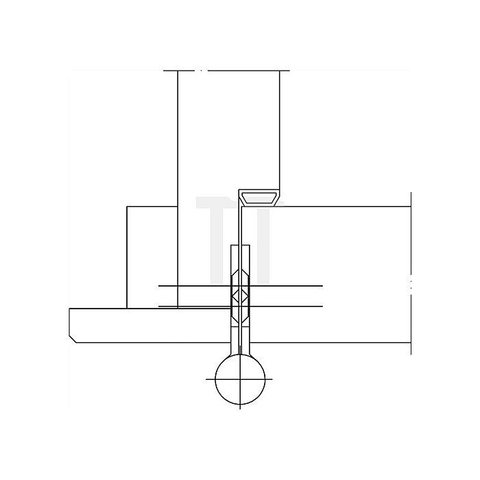 Türband Q1 DIN re.Band-L.140mm Oberfläche verz.f.stumpf einschlagende Türen