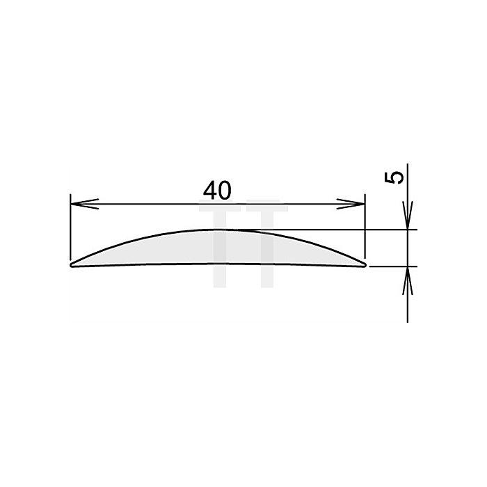 Türdichtung Aluschwelle 90 Nr.3-111 Länge 1090mm silberfarben eloxiert