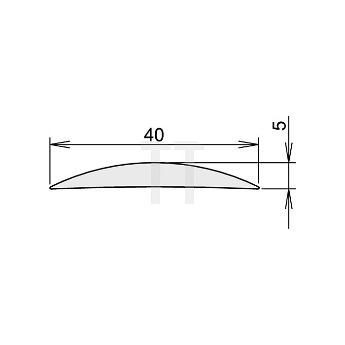 Türdichtung Aluschwelle 90 Nr.3-111 Länge 1215mm silberfarben eloxiert