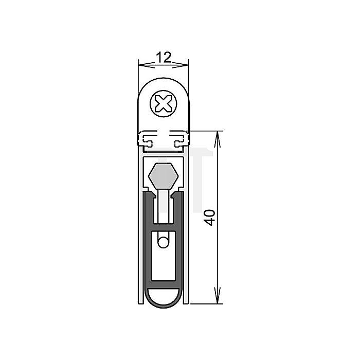 Türdichtung Kältefeind Allround Nr.1-689 Auslösung 1-seitig L.833mm Alu.silber