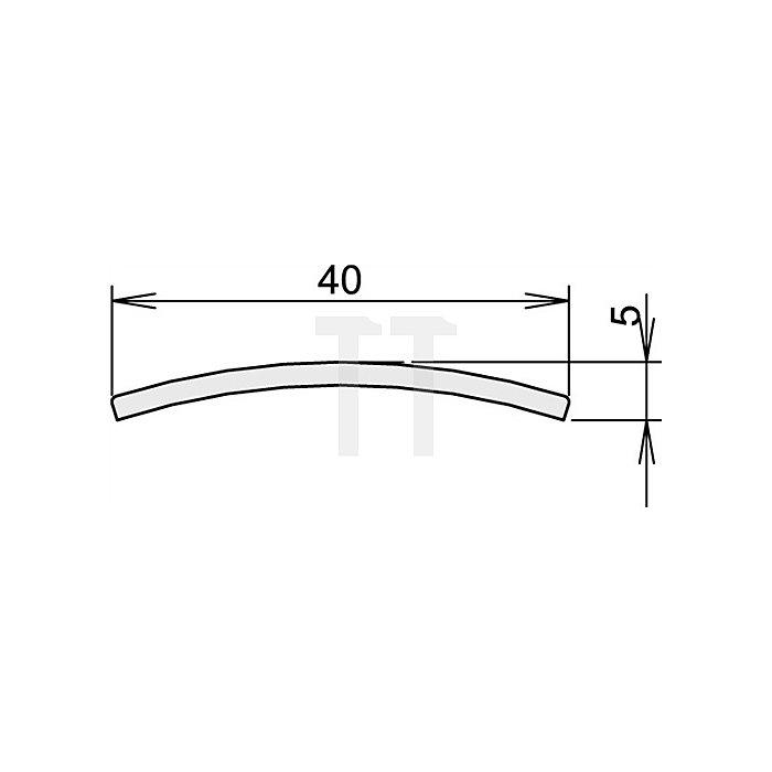 Türdichtung Niroschwelle Nr. 3-107 Länge 1215mm Edelstahl matt gebürstet