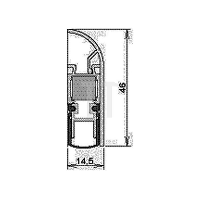 Türdichtung Schall-Ex Applic A Auslösung 2-seitig L. 805mm Alu. silber