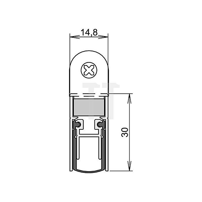 Türdichtung Schall Ex DUO L-15 WS Nr.1-382 Auslösung 2-seitig L.833mm Alu.
