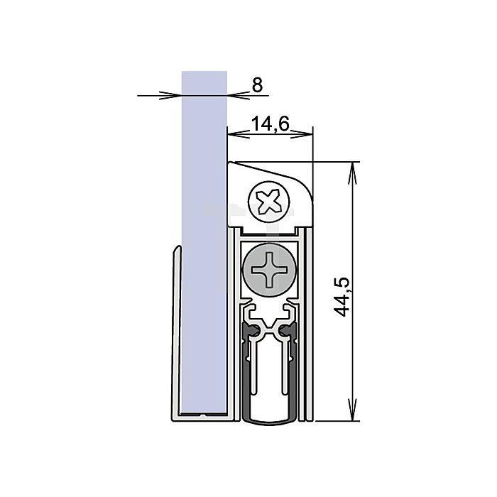 Türdichtung Schall Ex GS-8 Nr.1-407 Auslösung 1-seitig L.1208mm Alu.silberf.