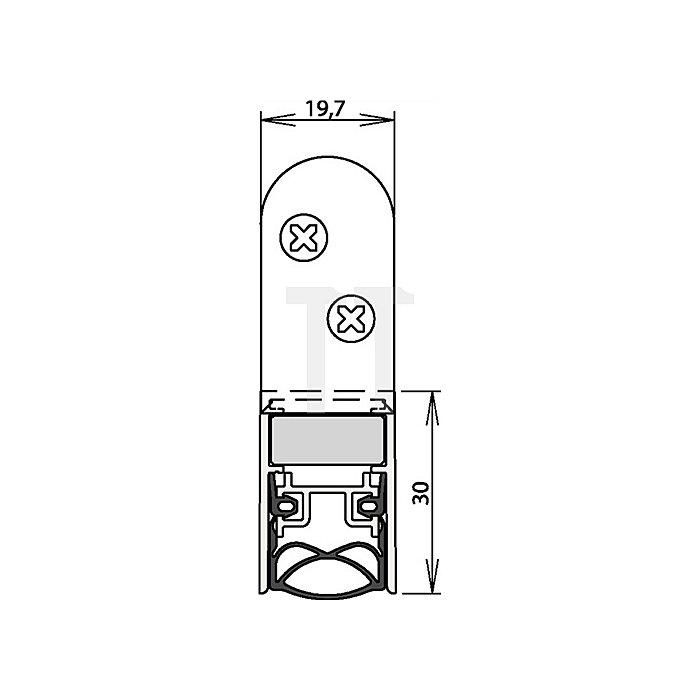 Türdichtung Schall-Ex Ultra WS Nr.1-290 Auslösung 2-seitig L.708mm Alu