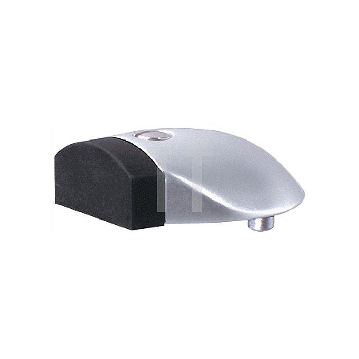 Türpuffer 3846 H. 20mm D. 60mm Alu F1 naturfarbig schwarzer Anschlagpuffer