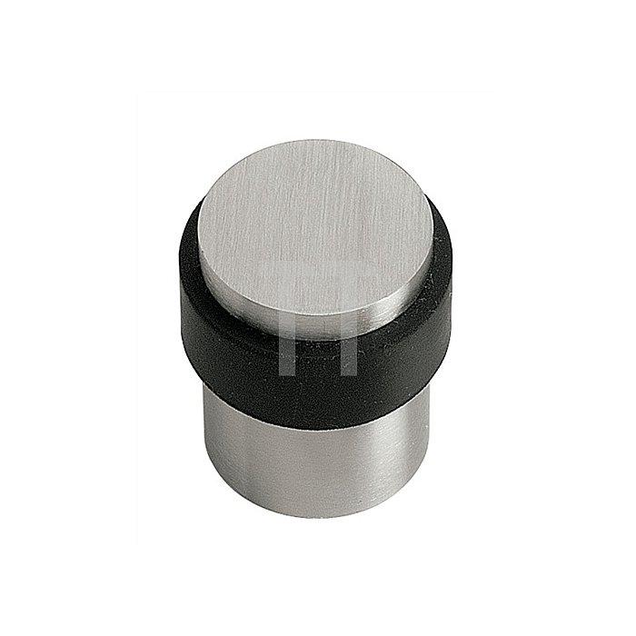 Türpuffer Durchmesser 30/35mm Höhe 40mm Edelstahl mit schwarzem Anschlagpuffer