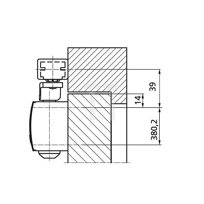 Türschließer TS 1500 Größe 3-4 silber ohne Gestänge