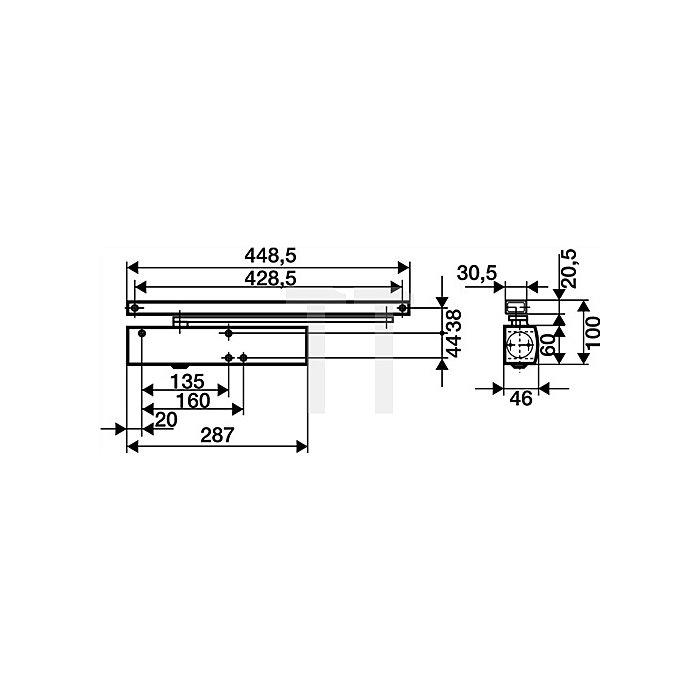 Türschließer TS 5000 Größe 2-6 dunkelbronze ohne Gleitschiene