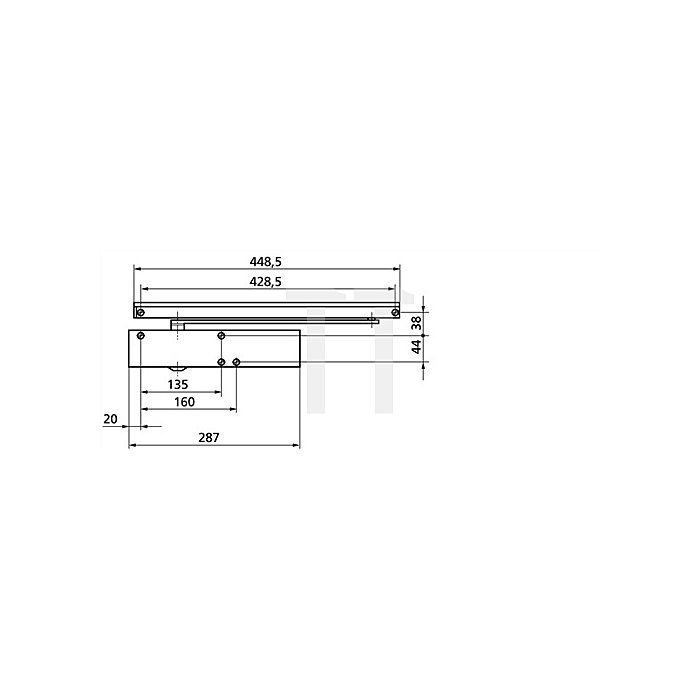 Türschließer TS 5000 L Größe 2-6 weiss RAL 9016