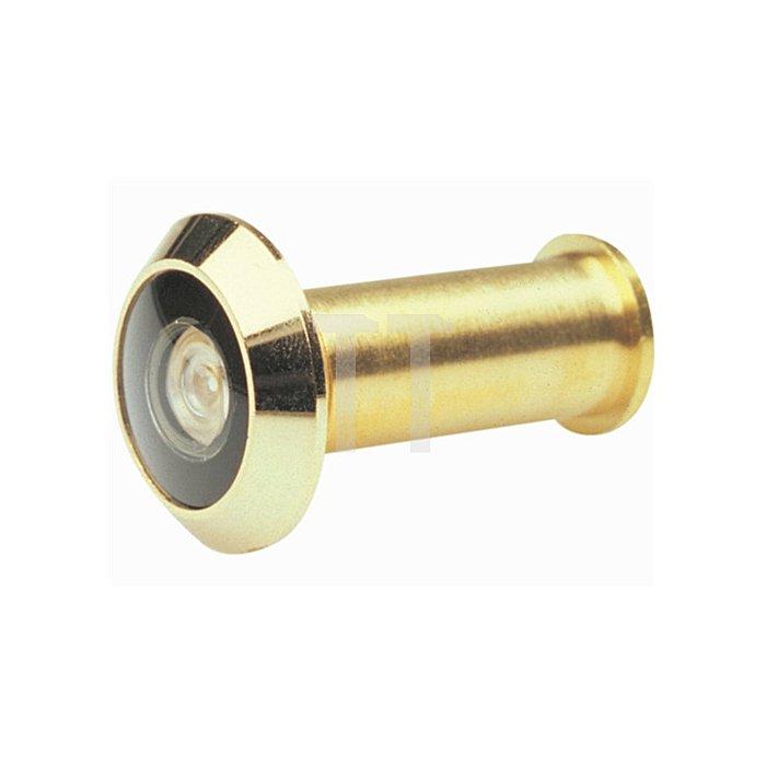 Türspion Blickfeld 200 Grad Kunststofflinse Ms. vergoldet f. Türstärken 35-60mm