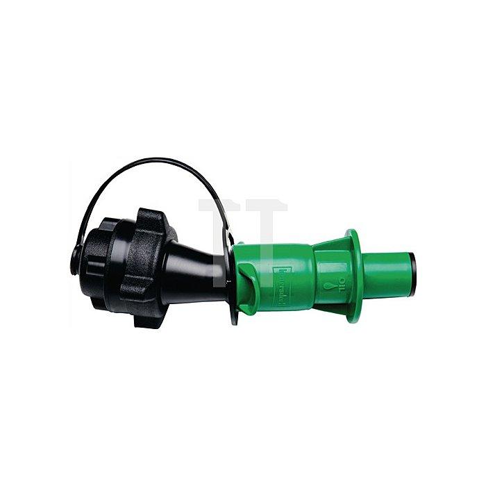 Universal-Sicherheits-Einfüllsystem für Kettenöl, schwarz / grün