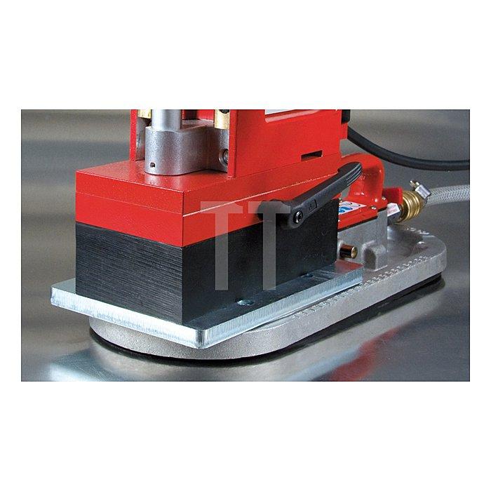 Vakuumspannplatte mit Druckluftanschluß für Magnetständerbohrmaschinen