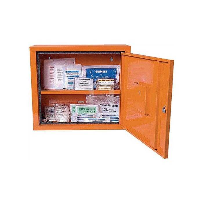 Verbandschrank orange SÖHNGEN 490x420x200mm Feinblech 1türig
