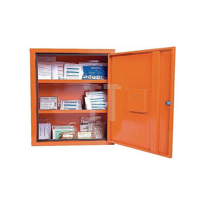 Verbandschrank orange SÖHNGEN 490x560x200mm Feinblech 1türig
