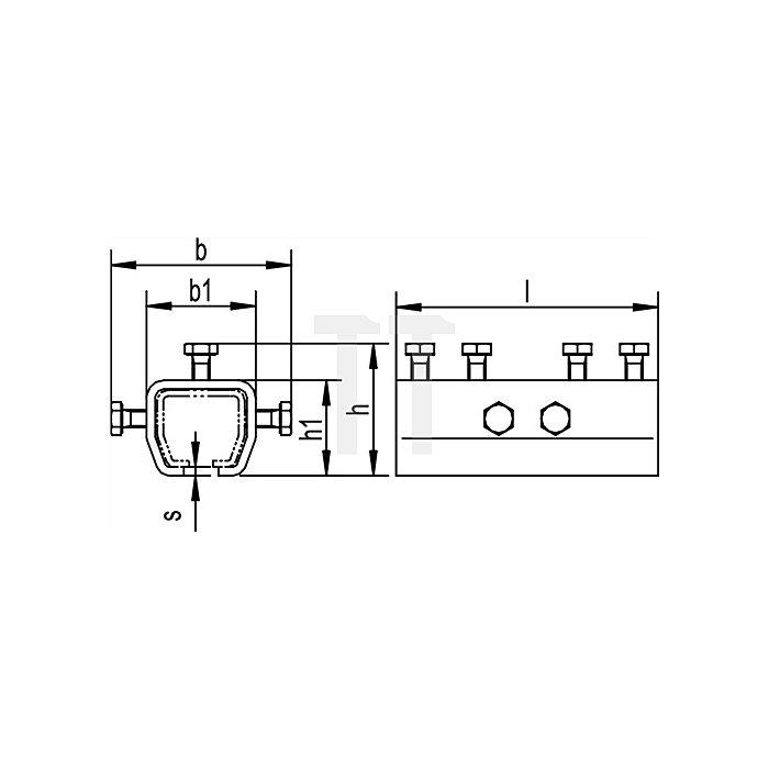 Verbindungsmuffe 1303 f.Profil 300 höhenverstellbar galvisch verzinkt