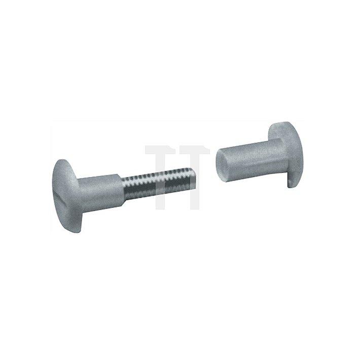 Verbindungsschraube 13109 f. Holzstärken 29-36mm Kopf braun Stift Stahl blank