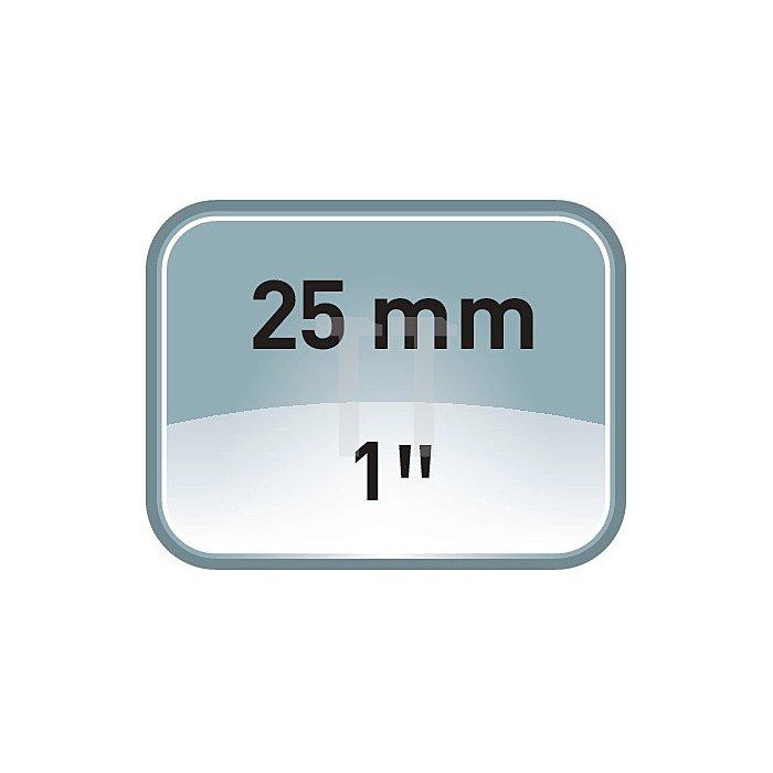 Verbindungsteil m.Innen-/Aussenvier-KT u.Schnellwechselhalter 1Zoll-1Zoll
