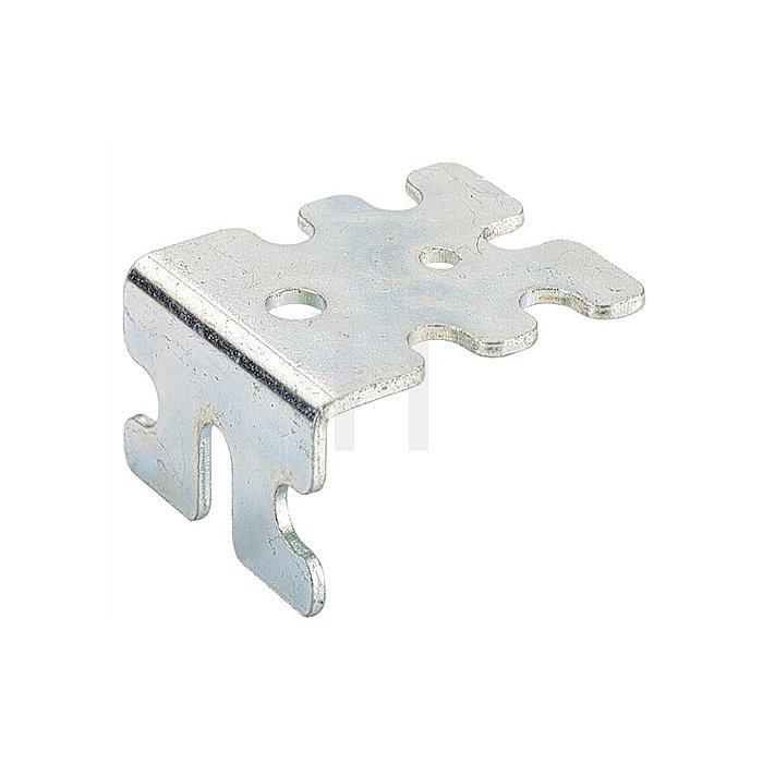 Verbindungswinkel 24832 Schenkel 50/25mm Breite 42mm Stahl chromatiert