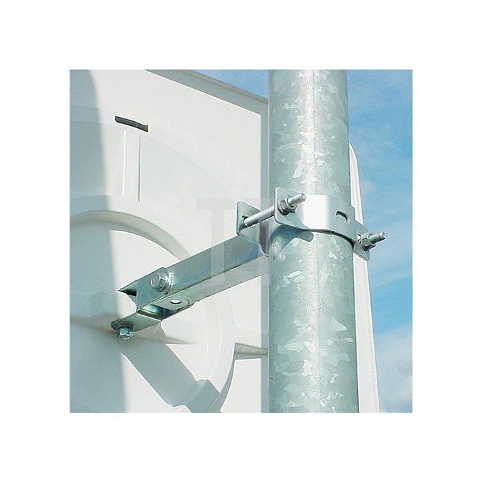 Verkehrsspiegel H400xB600mm Ku.rot/weiss m.Halterung innen/außen