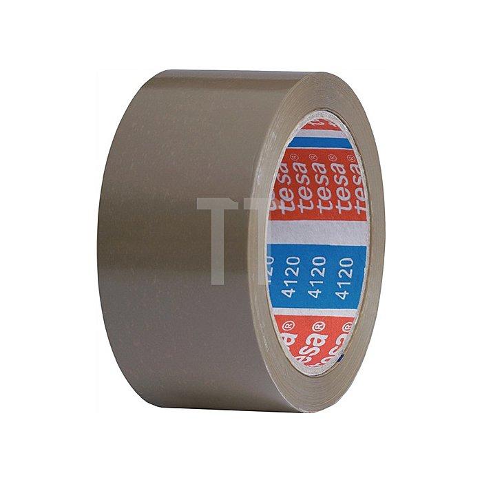 Verpackungsklebeband 4120 Länge 66m Breite 50mm transparent PVC-Folie tesa